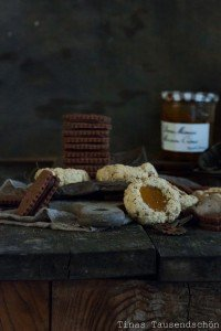 Schoko Maronen Haferflocken Cookies