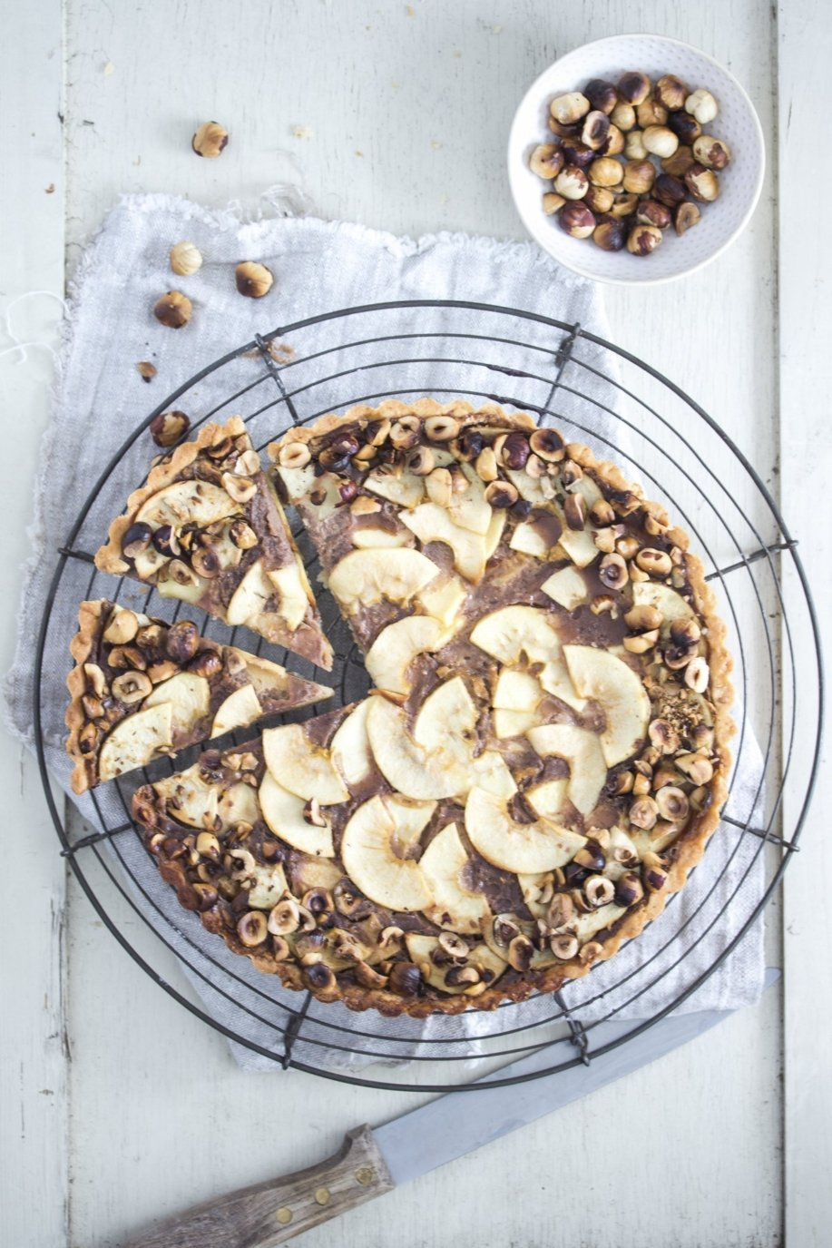 Nutella Apfel Tarte