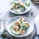 Gurken Avocado Salat mit Garnelen