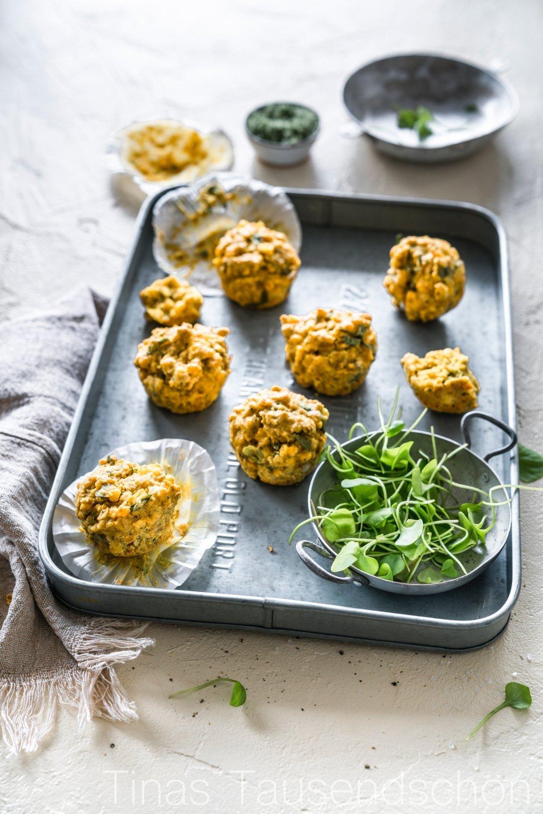 Schälerbsen Mais Muffins