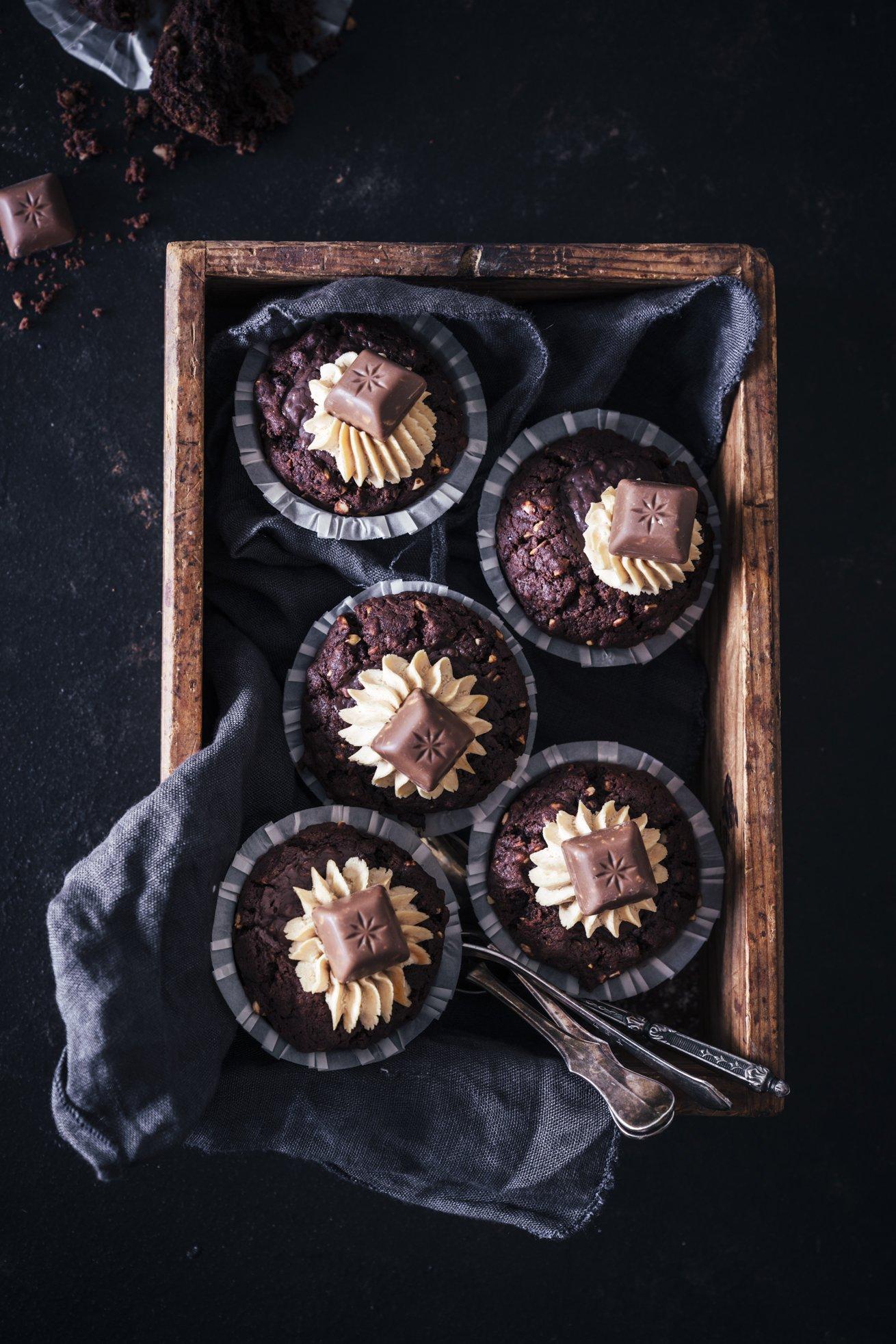 Schoko Erdnuss Muffins