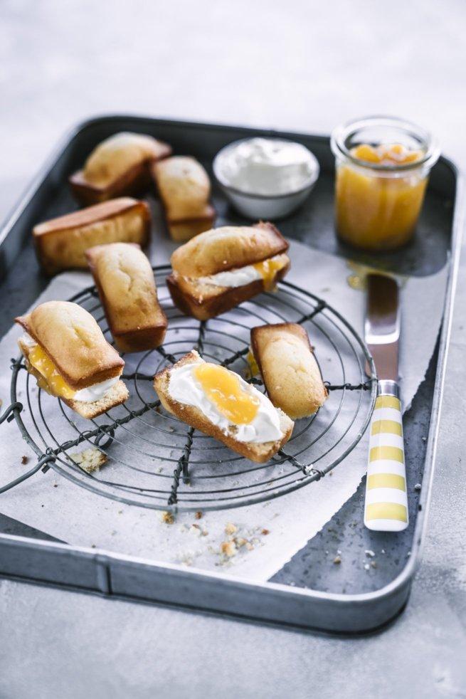 Lemoncurd Friands mit Mascarpone
