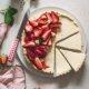 Cremige Pudding Tarte mit Erdbeeren