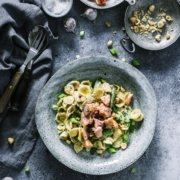 Orechiette mit grünem Spargel und Lachs