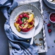 Peach Melba Breakfast Bowl