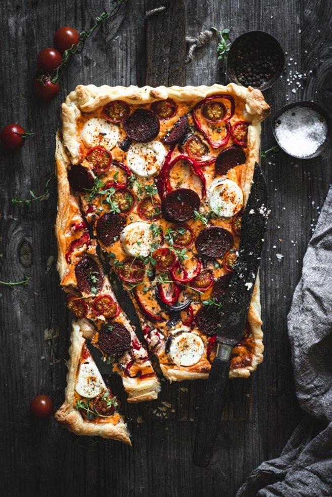 Feurige Tarte mit Chorizo