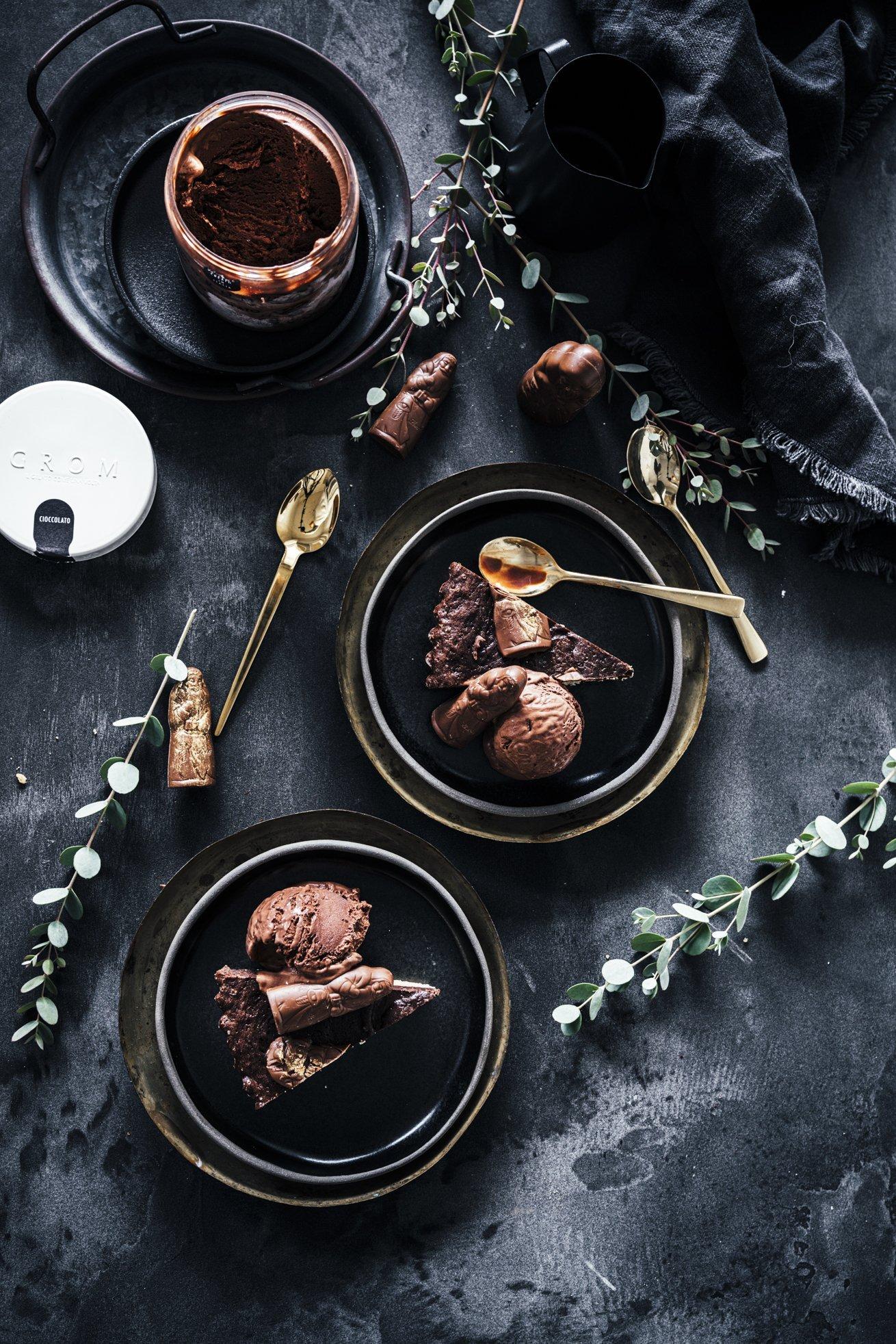 Weihnachtliche Schokotarte mit Gelato Cioccolata