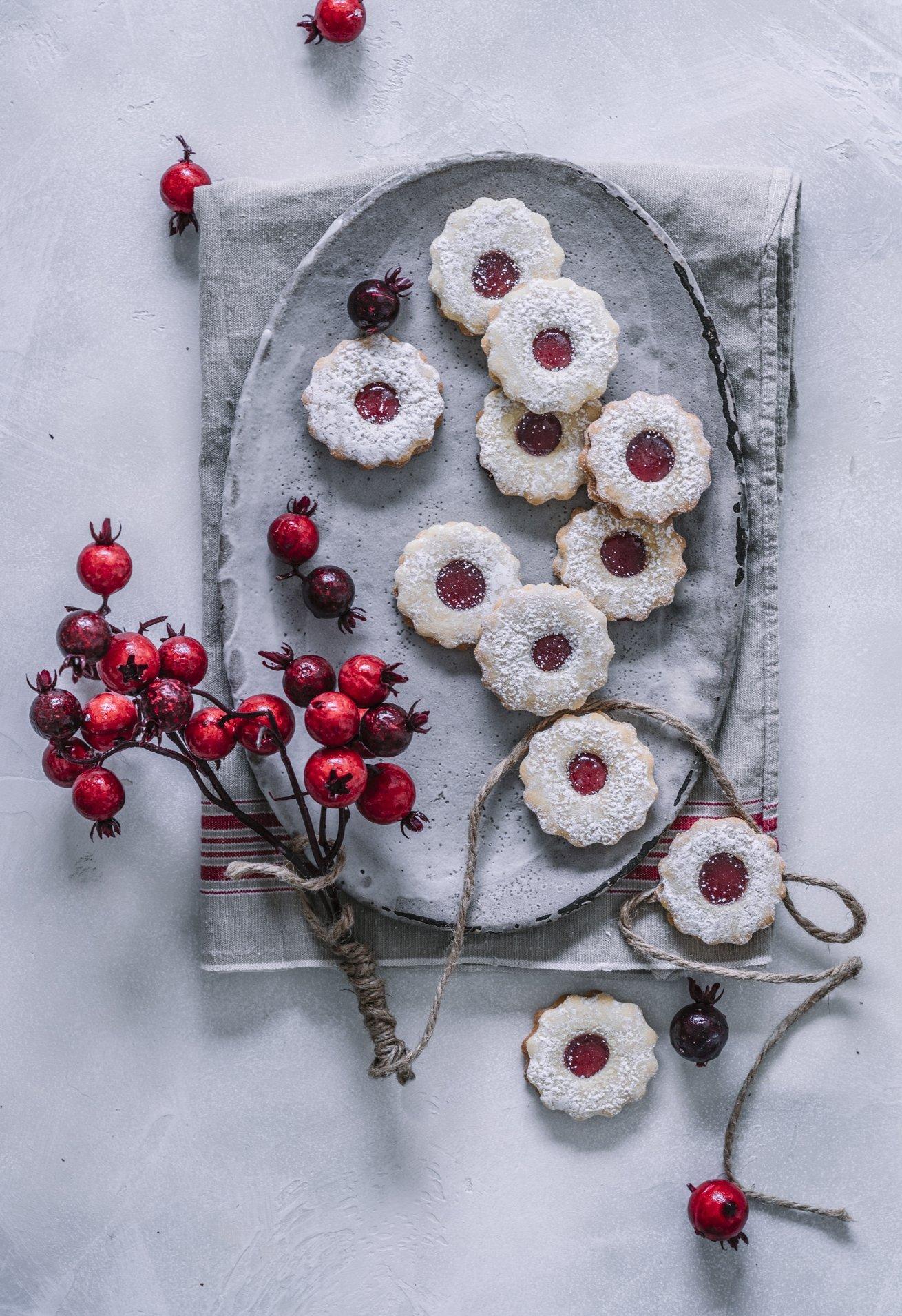 Hildabrötchen mit Himbeer Marmelade