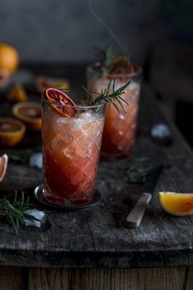 Quitten Blutorangen Gin Tonic