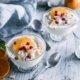 Kokos Mousse mit Mandarinen