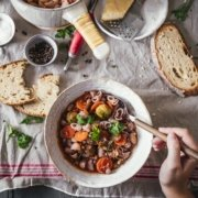 Winter Minestrone mit Maronen