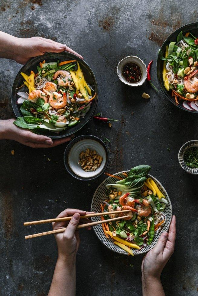 Leichen Asia Salat