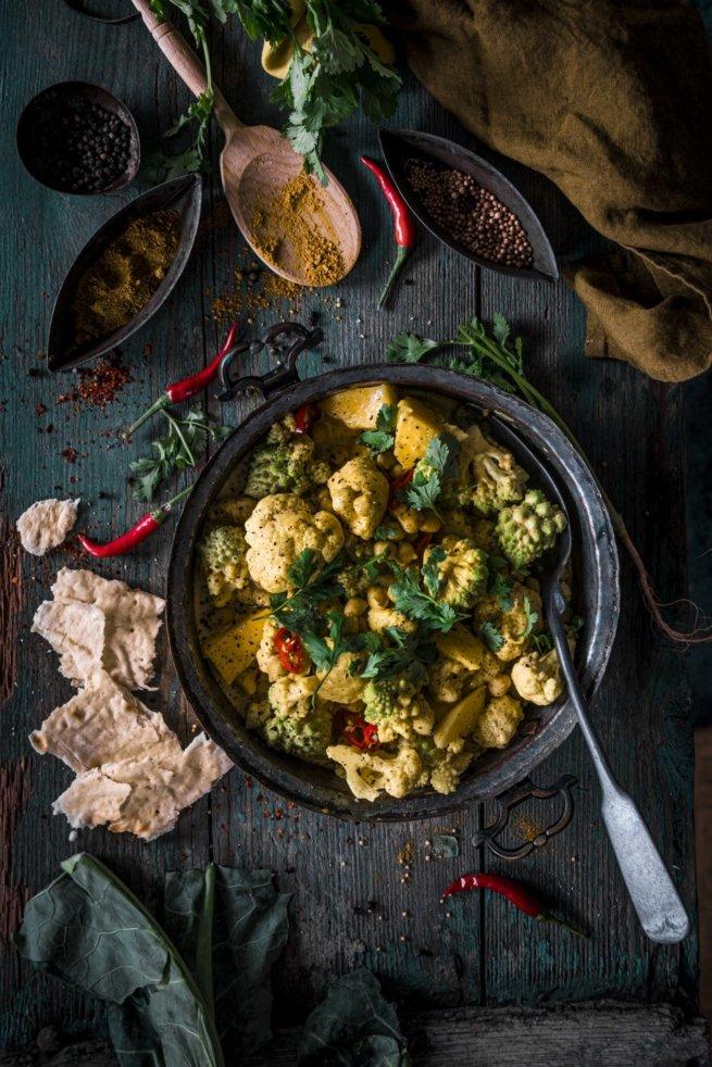 Blumenkohl Romansch Curry mit Mango
