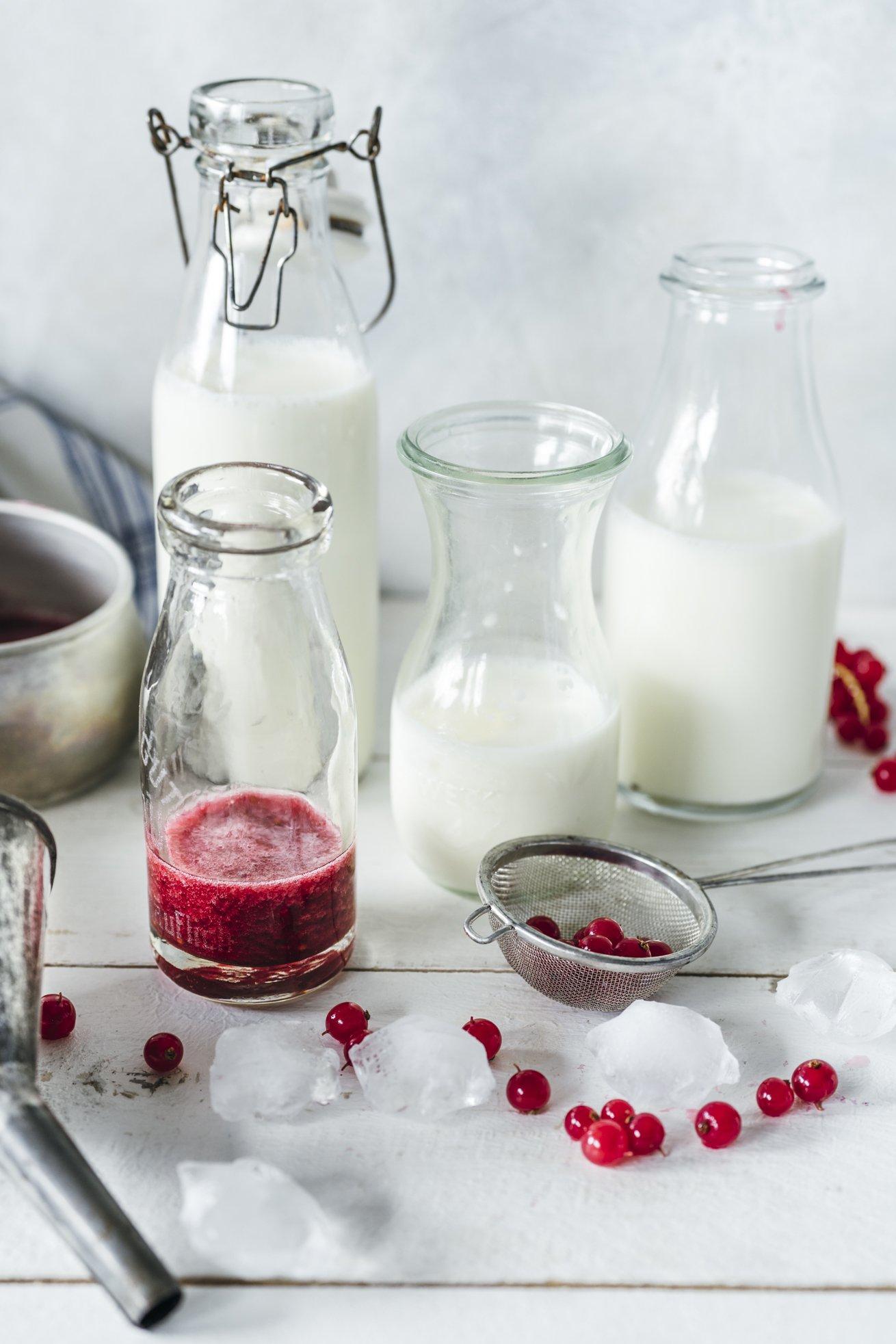 Milch Johannisbeere Schorle. Perfekt nach dem Sport