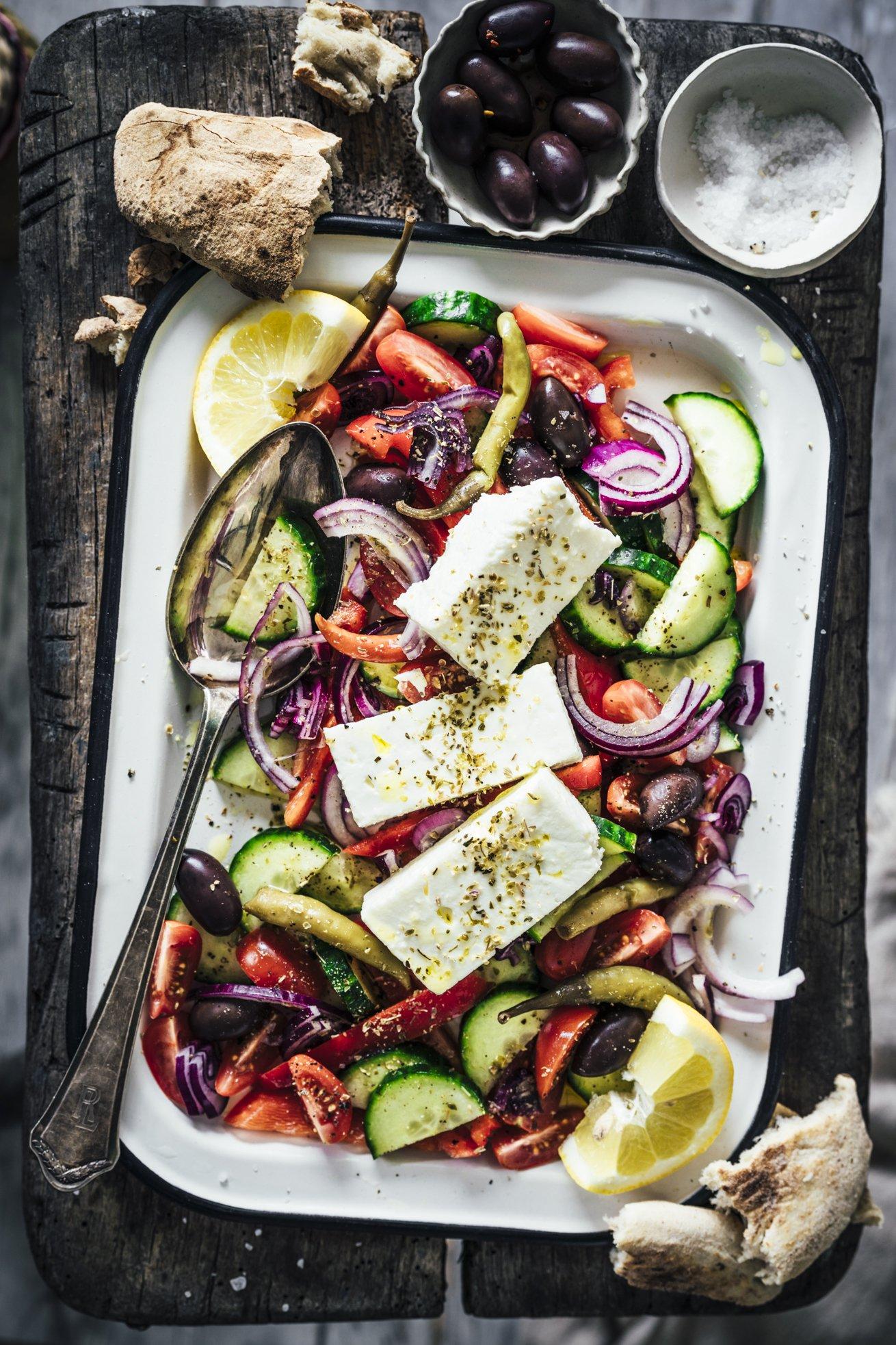 Traditioneller griechischer Bauernsalat