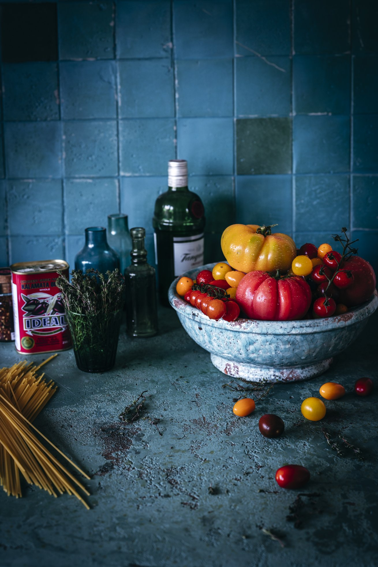 Heirloom Tomaten für Spaghetti mit Tomatensauce
