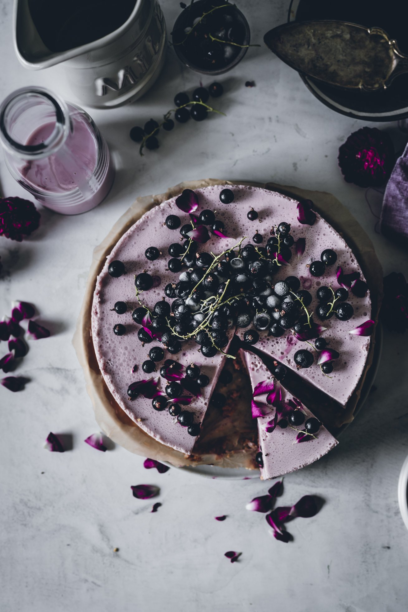 Buttermilch Torte mit Cassis