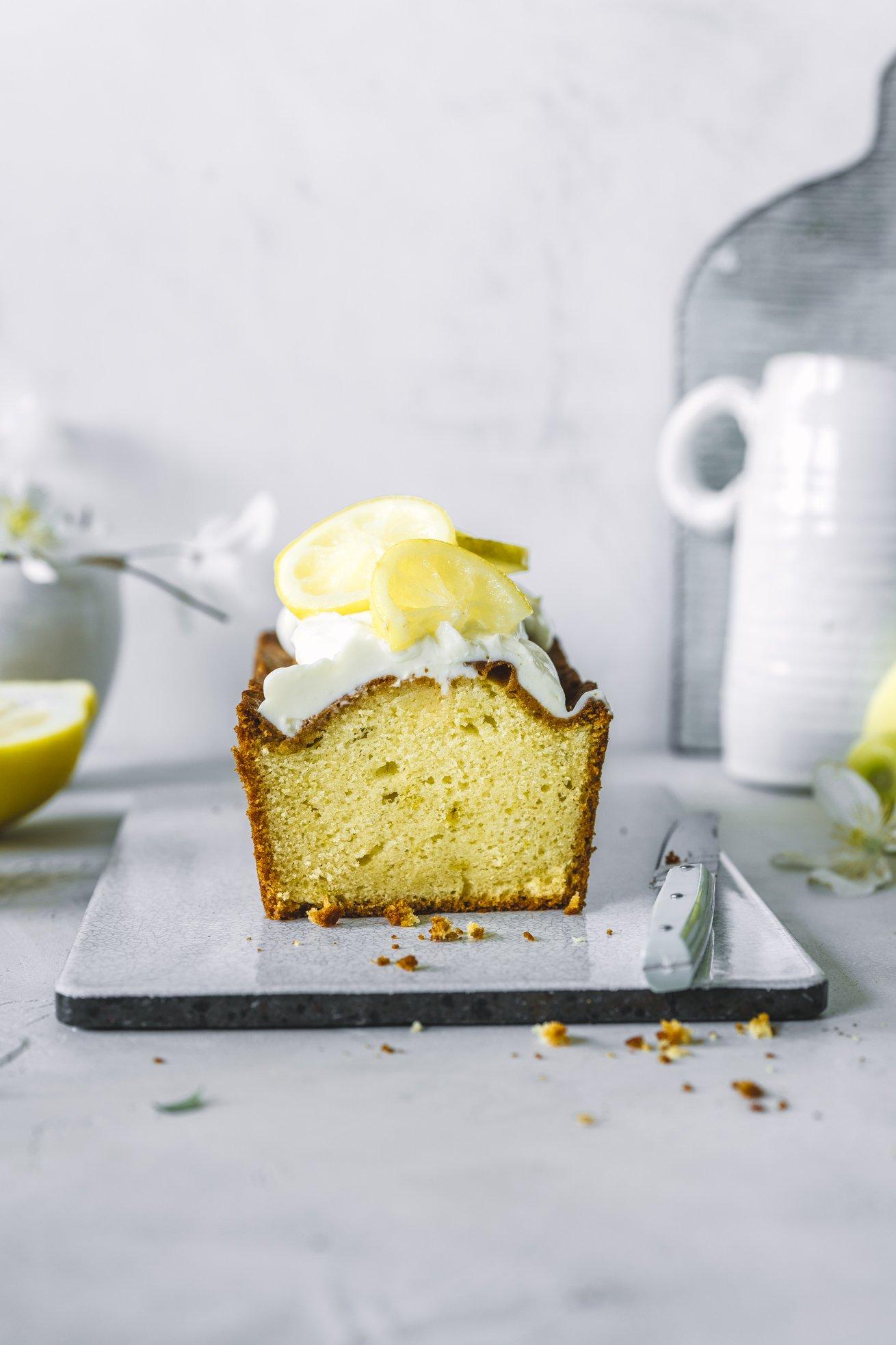 Zitronenkuchen mit Joghurt