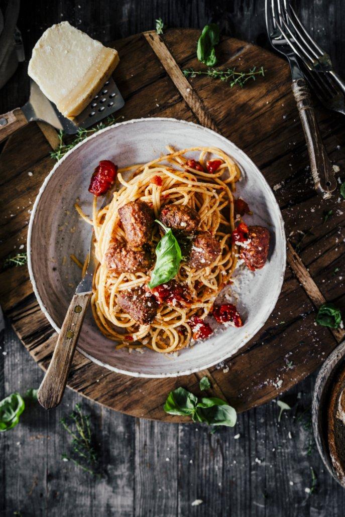 Spaghetti mit Salsiccia Meatballs