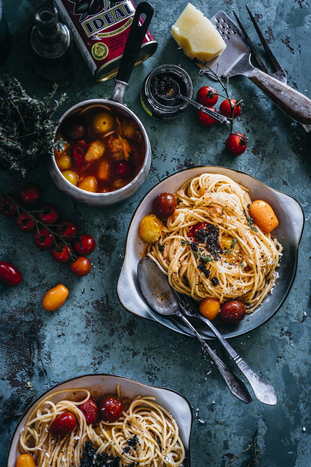 Tolles Spaghetti Rezept mit Tomaten Gin Sauce
