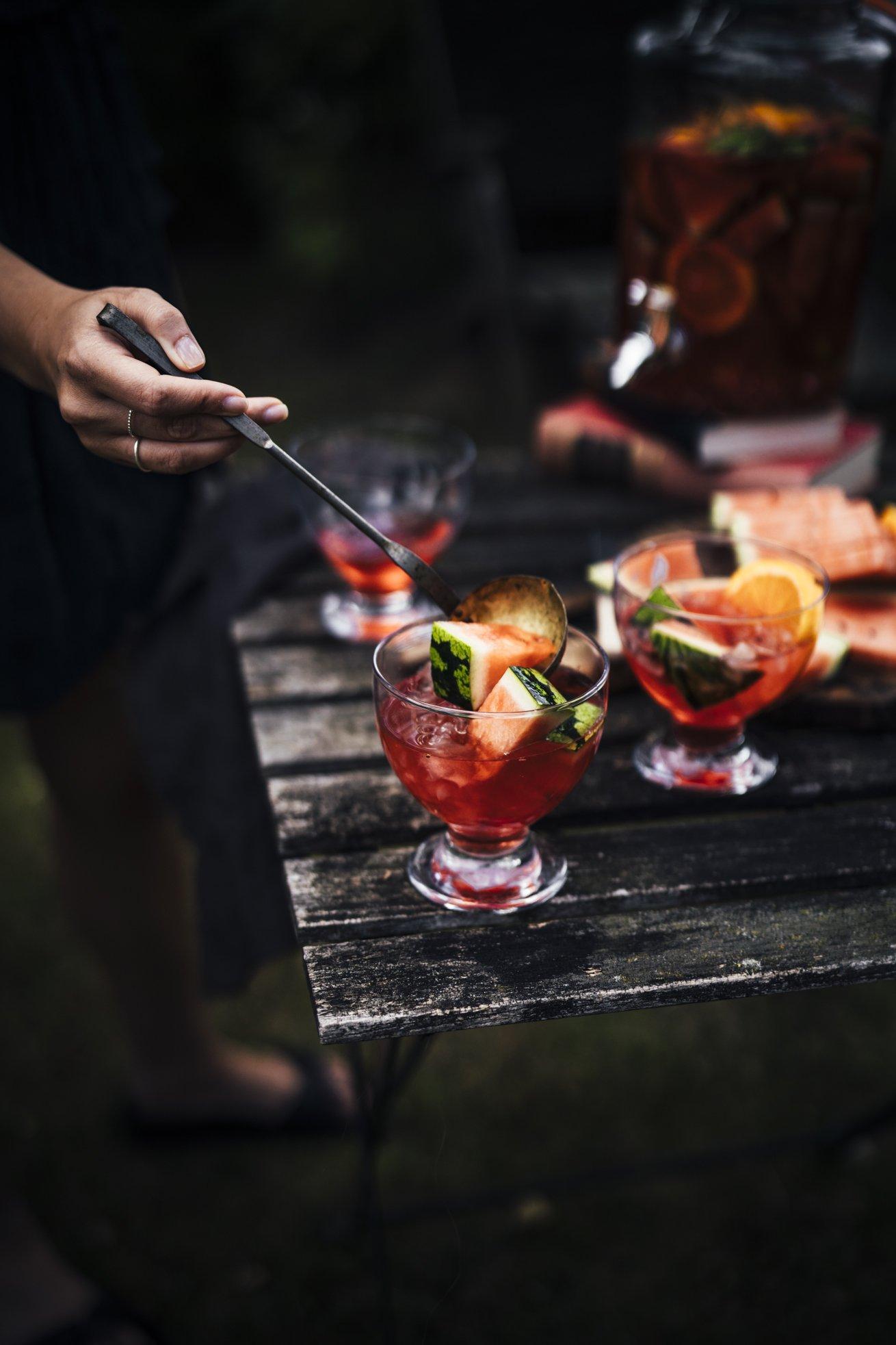 Der Sommerdrink 2020! Aperol Spritz Sangria mit Wassermelonen