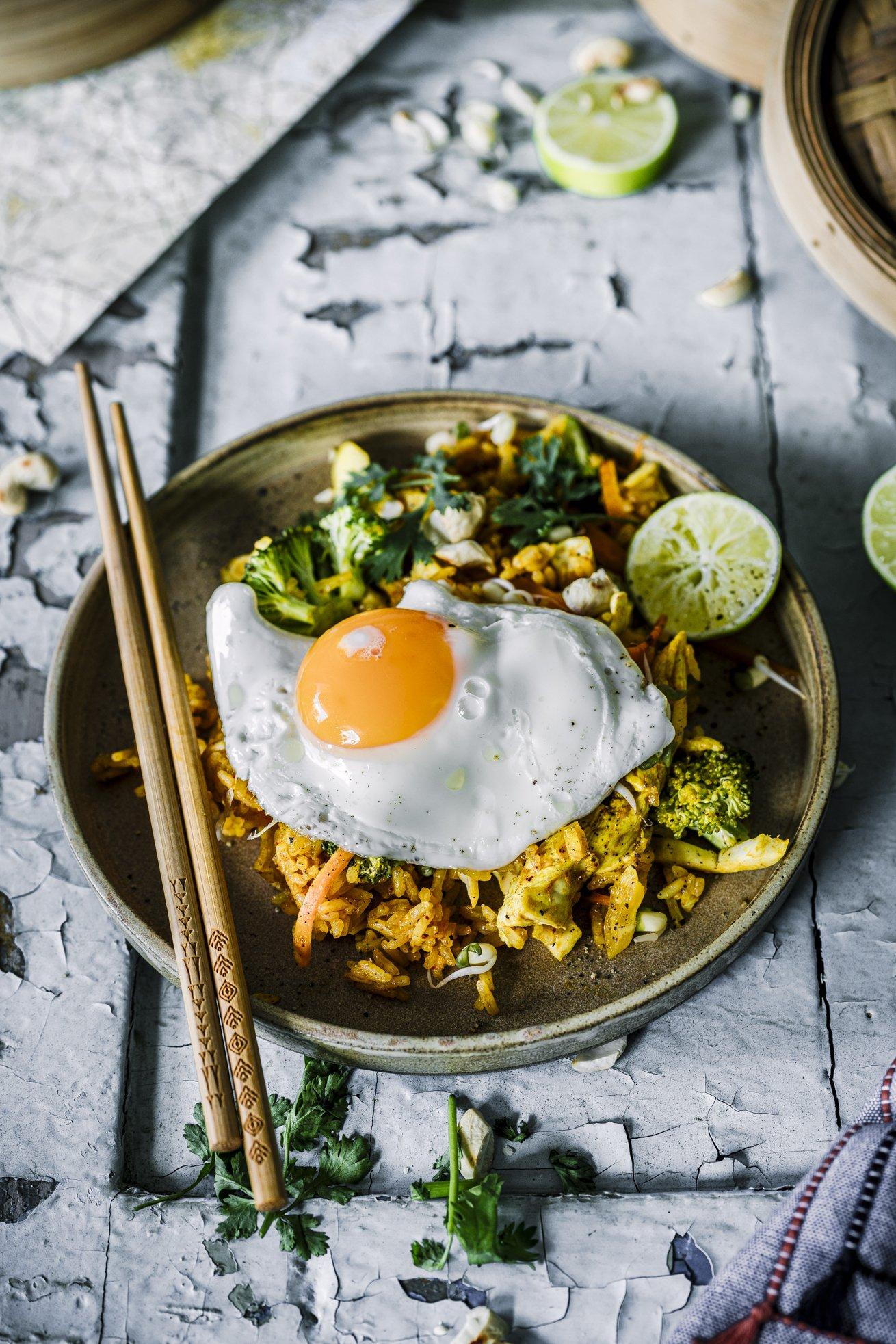 Wie vom Asia Imbiss - Nasi Goreng mit Hähnchen