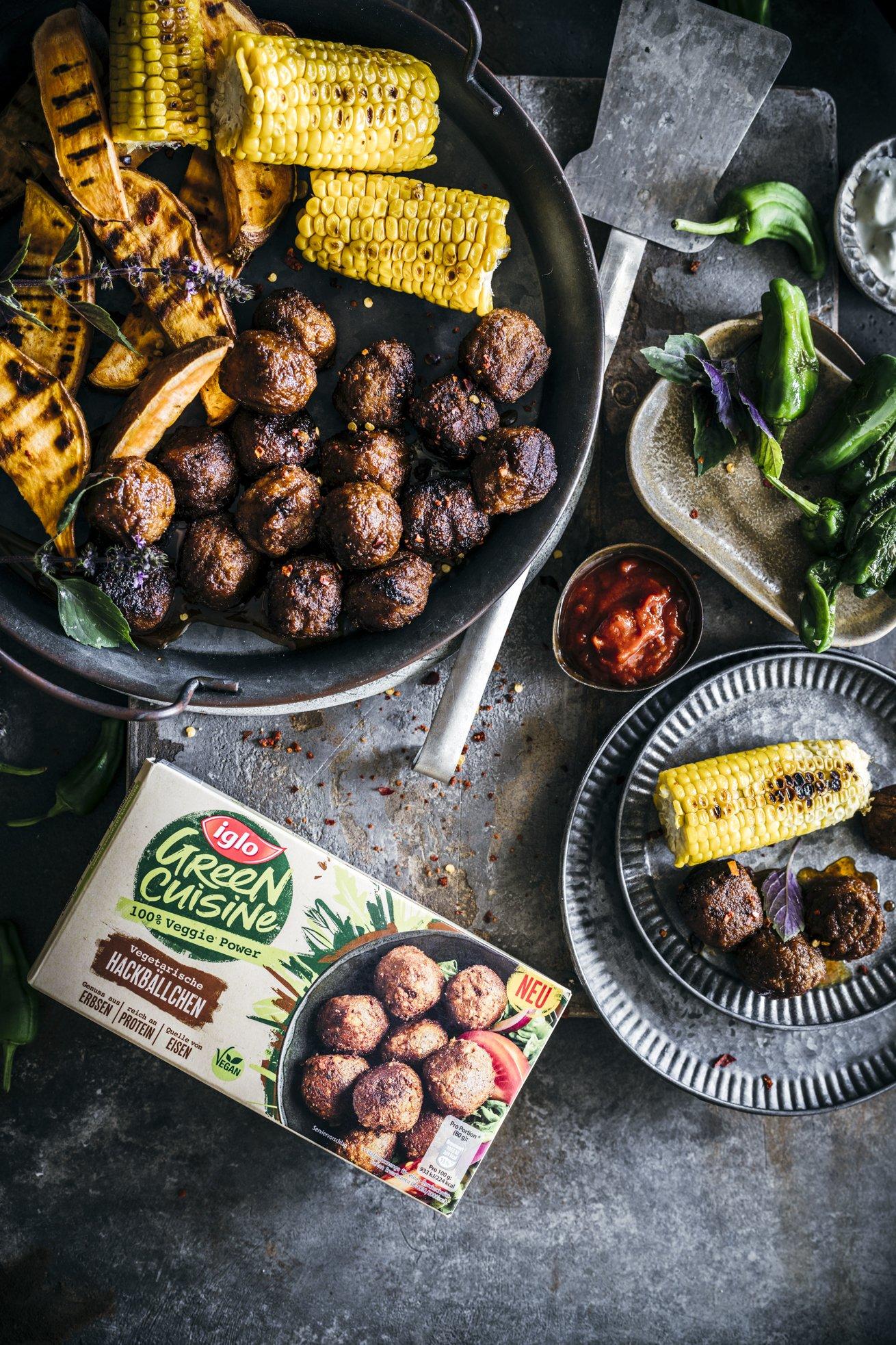 Vegetarisch Grillen mit veganen Hackbällchen a la Mexico