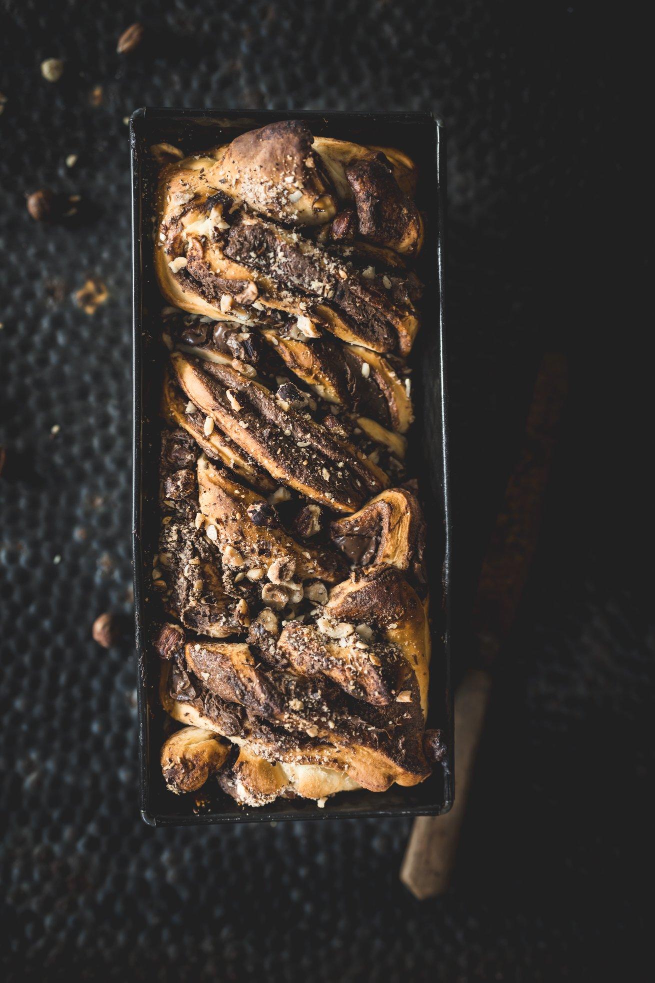 Fluffiger Hefezopf -Nutella Babka