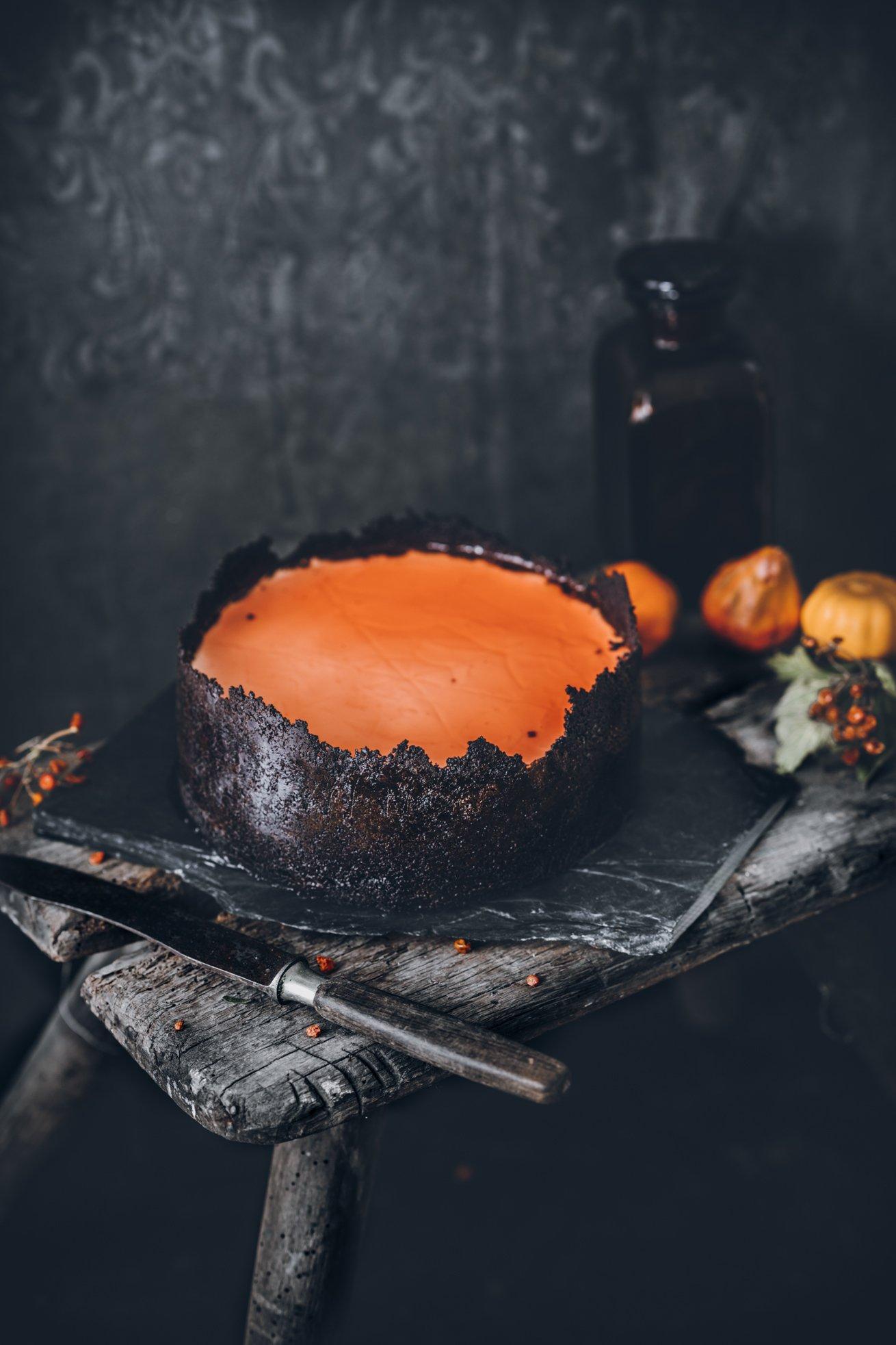 Süßes oder Saures? Halloween Cheesecake