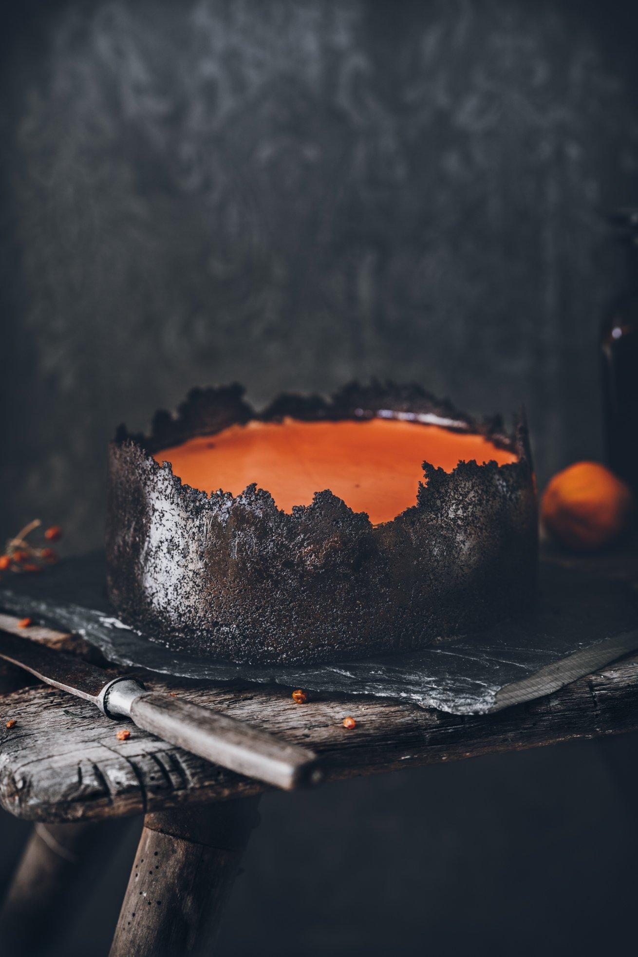 No Bake Halloween Cheesecake