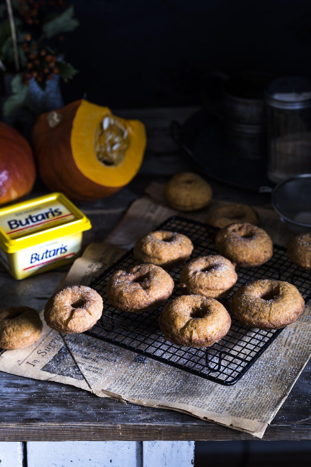 Pumpkin Spice Donuts, frittiert