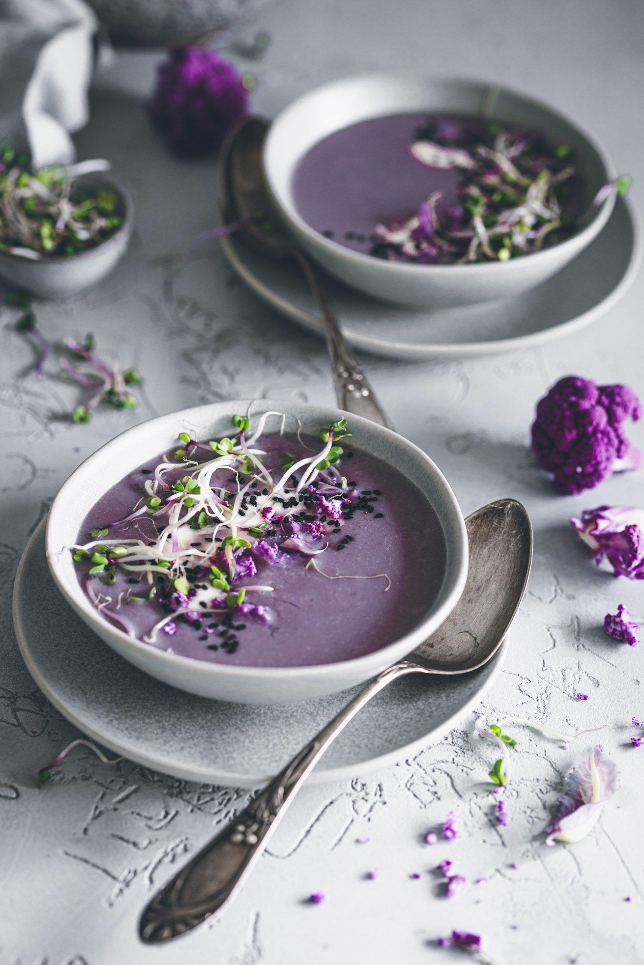 Festliche Blumenkohlsuppe vegan