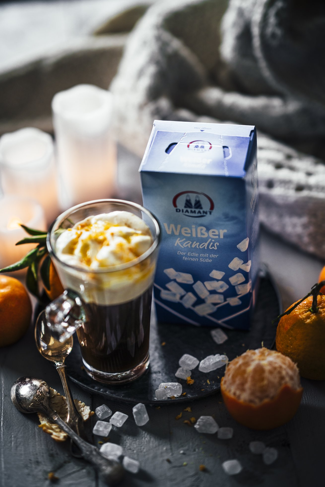 Beschwipster Kaffee mit Mandarinensirup