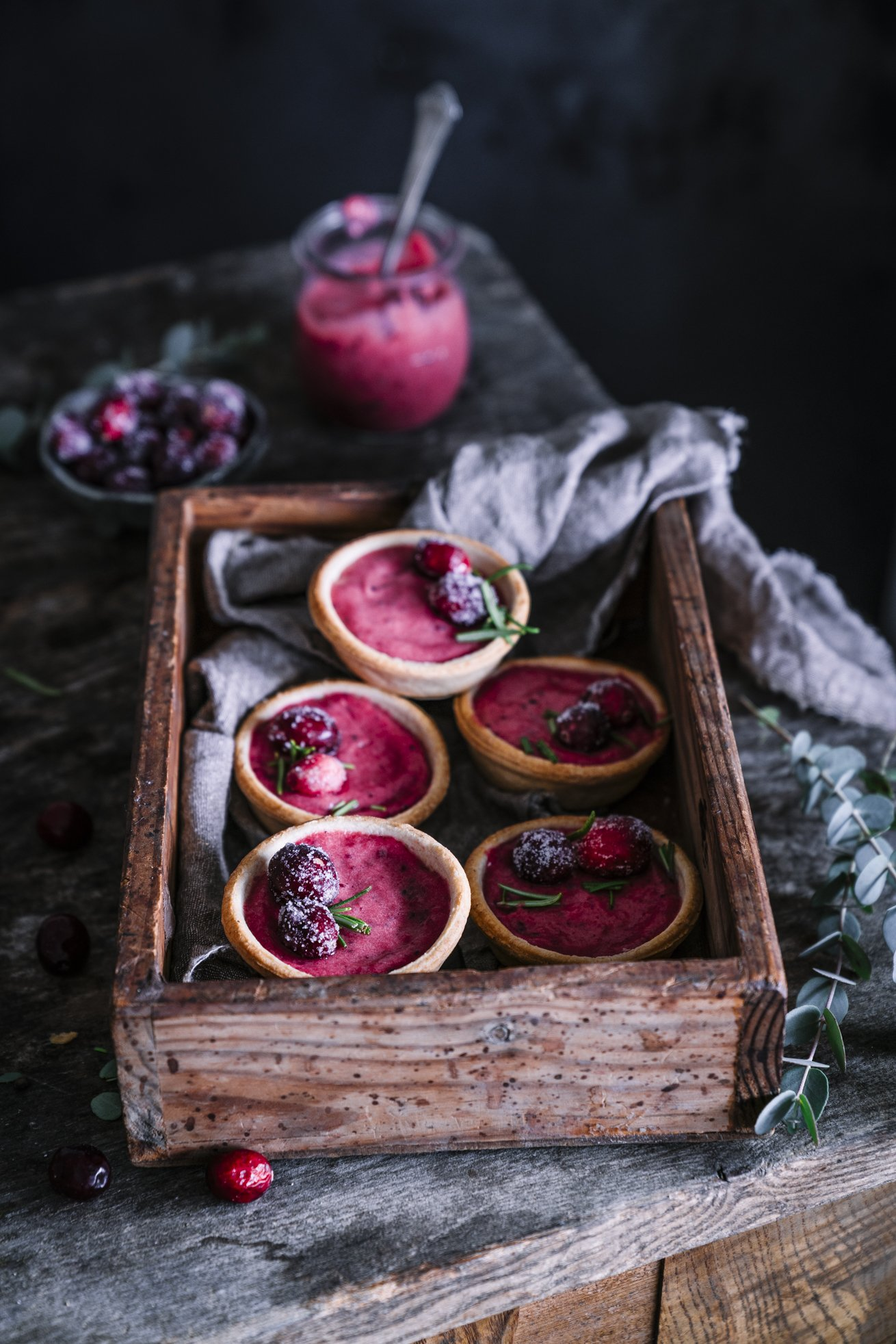 Thanksgiving Cranberry Curd Tartelettes