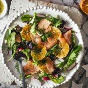 Vorspeise für Weihnachten - Clementinen Lachs Salat