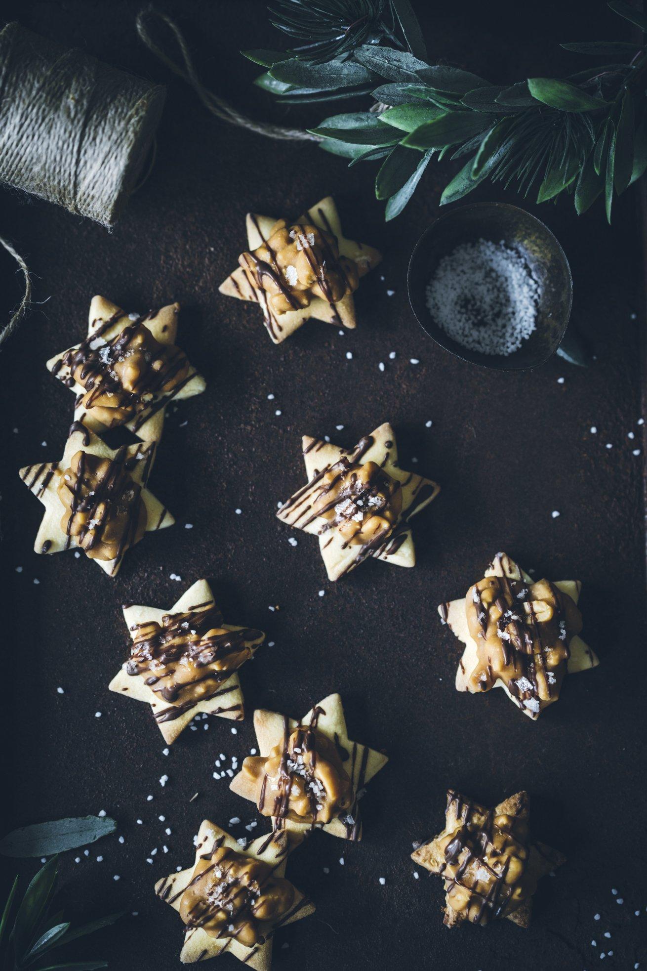 Keks Rezept für tolle Erdnuss Karamell Sterne