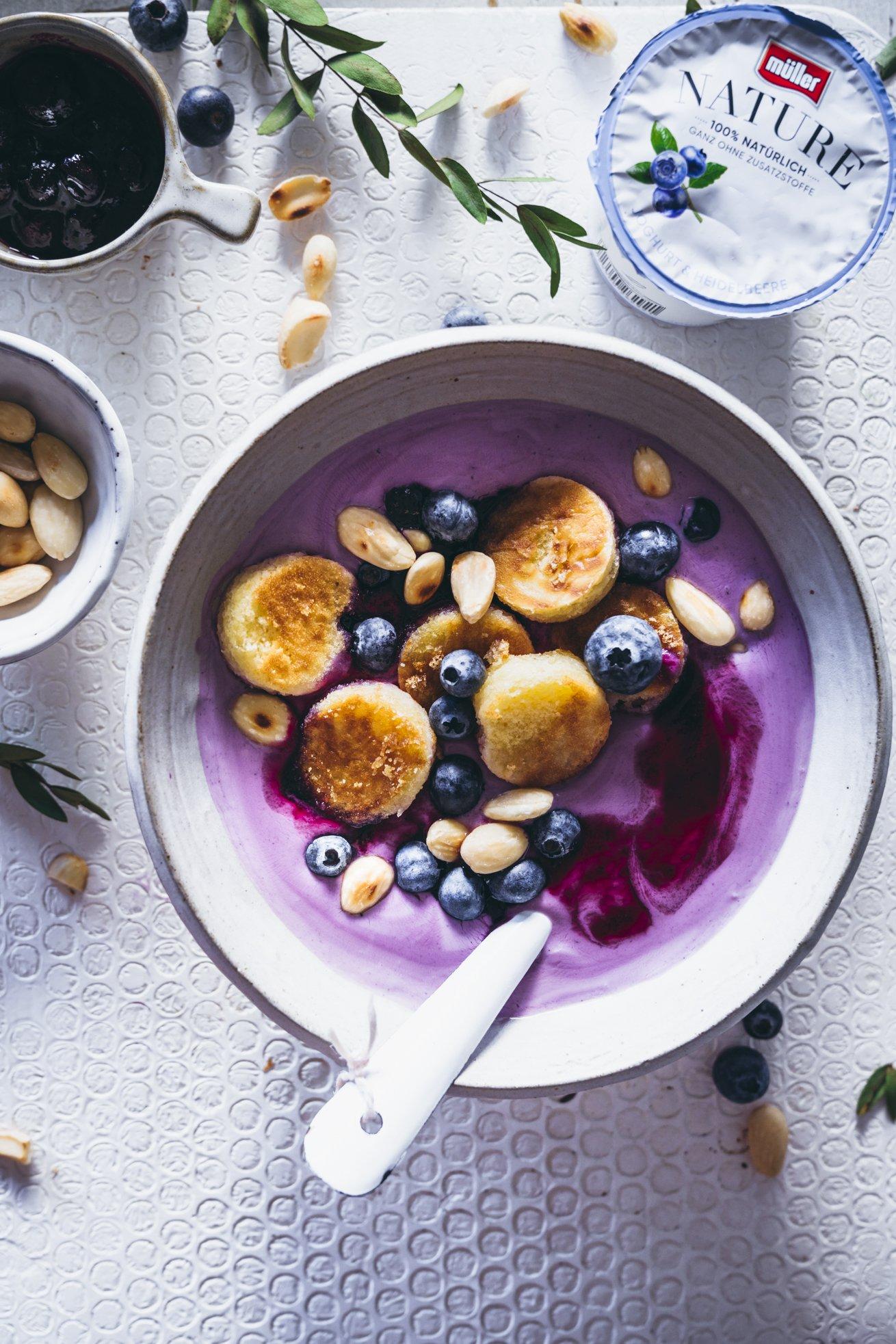 Leichte Heidelbeer Joghurt Bowl