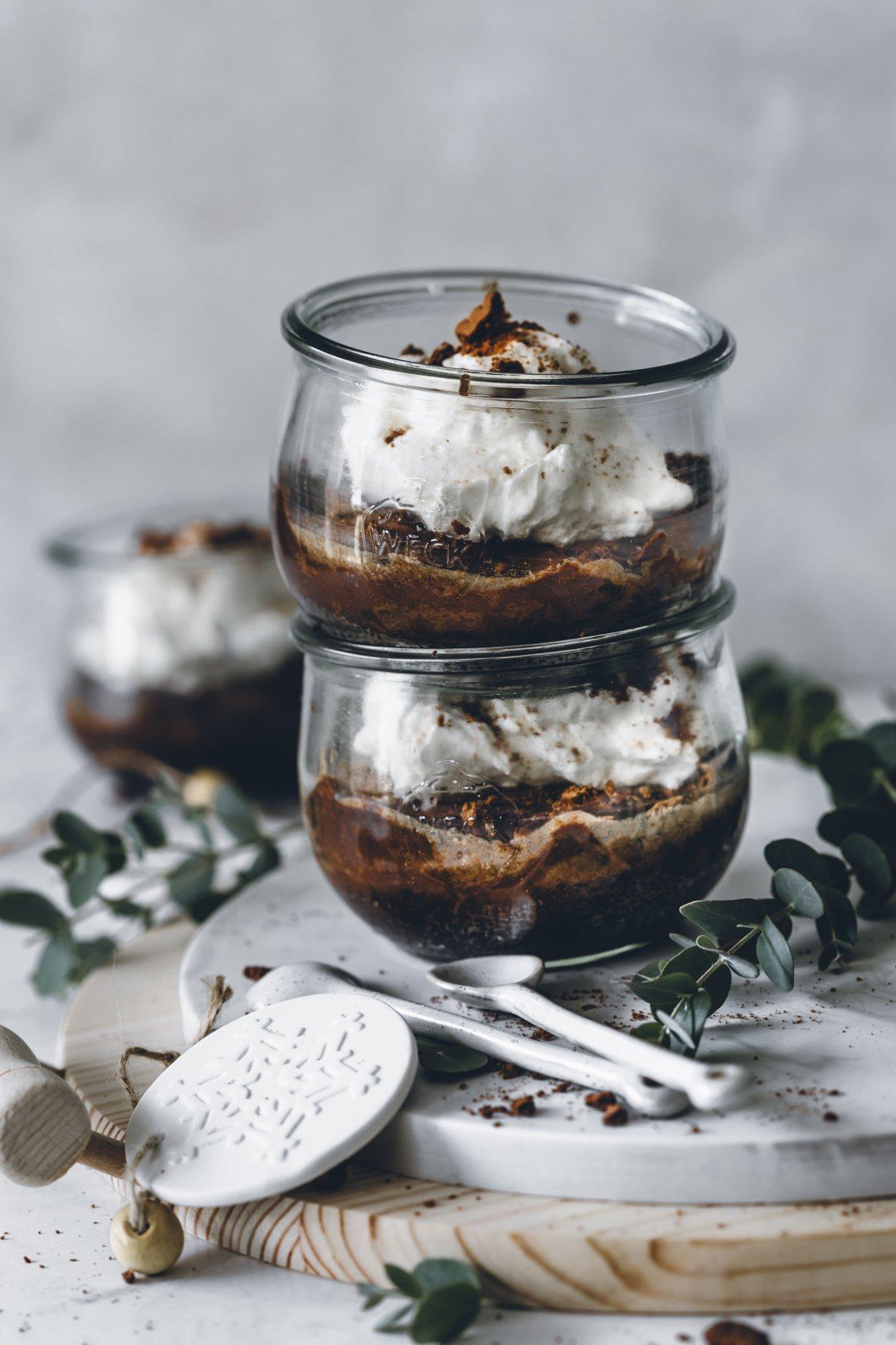 Dessert Weihnachten Rezept für Cheesecake im Glas