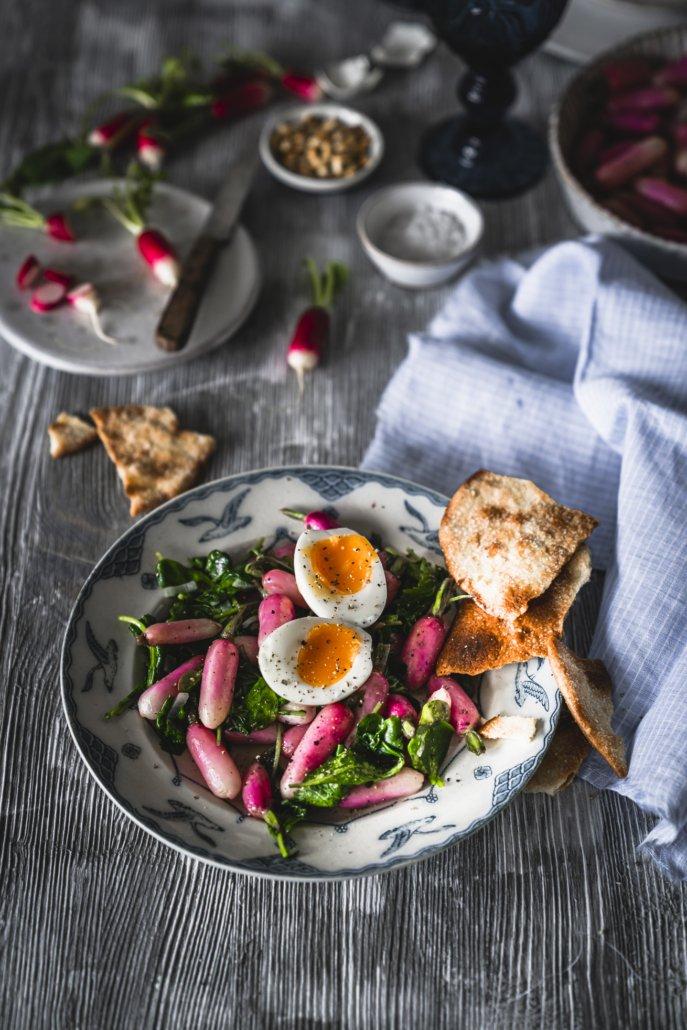Osterrezept - Radieschen Salat mit Ei