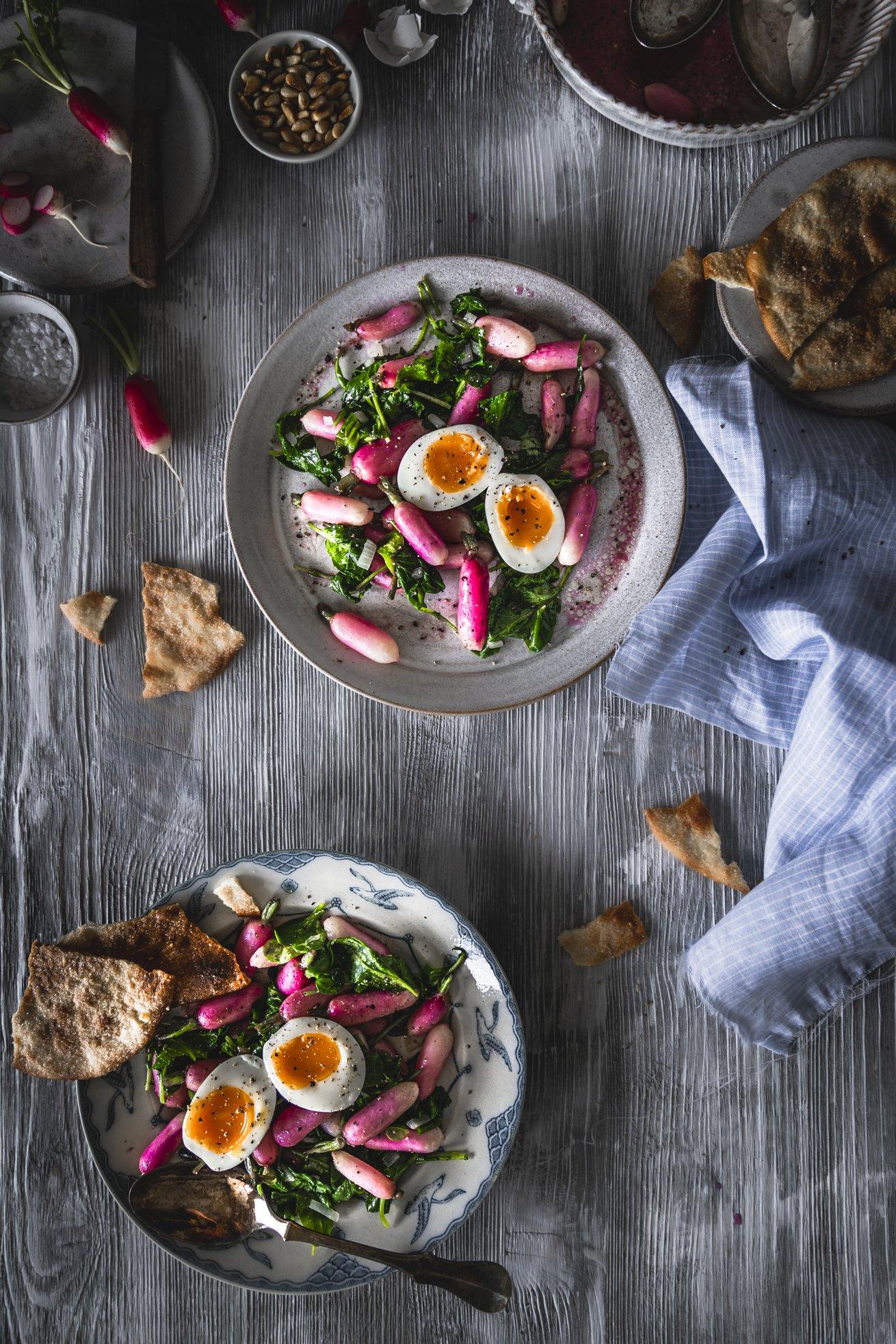 Radieschen als Salat
