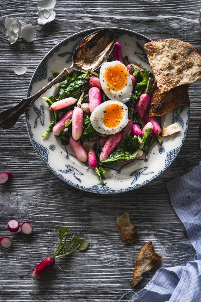 Tolles Rezept Radieschensalat mit Ei