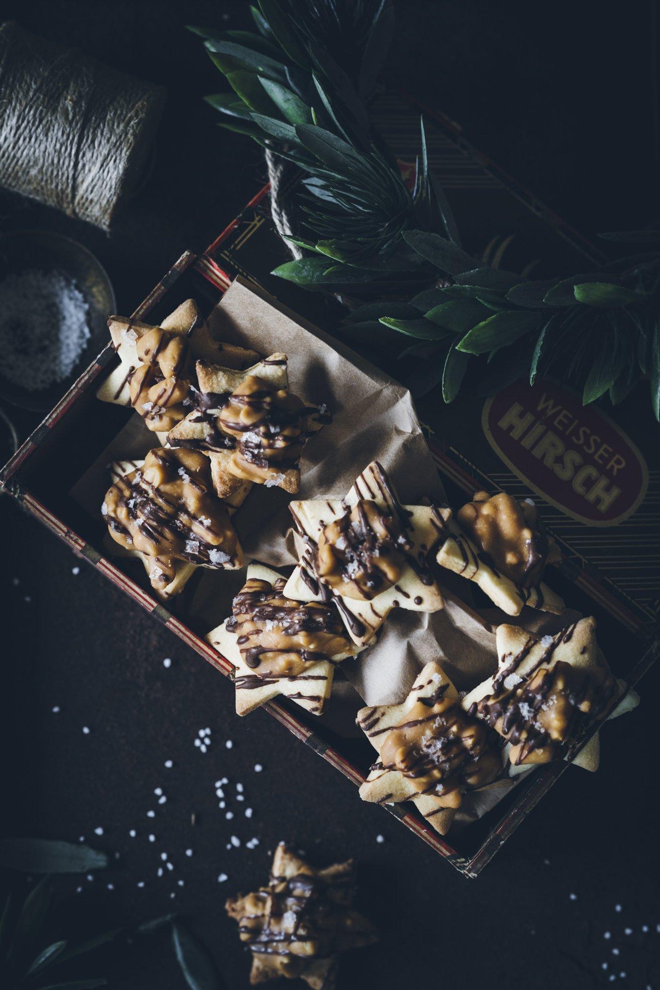 Keks Rezept für tolle Salted Caramel Sterne
