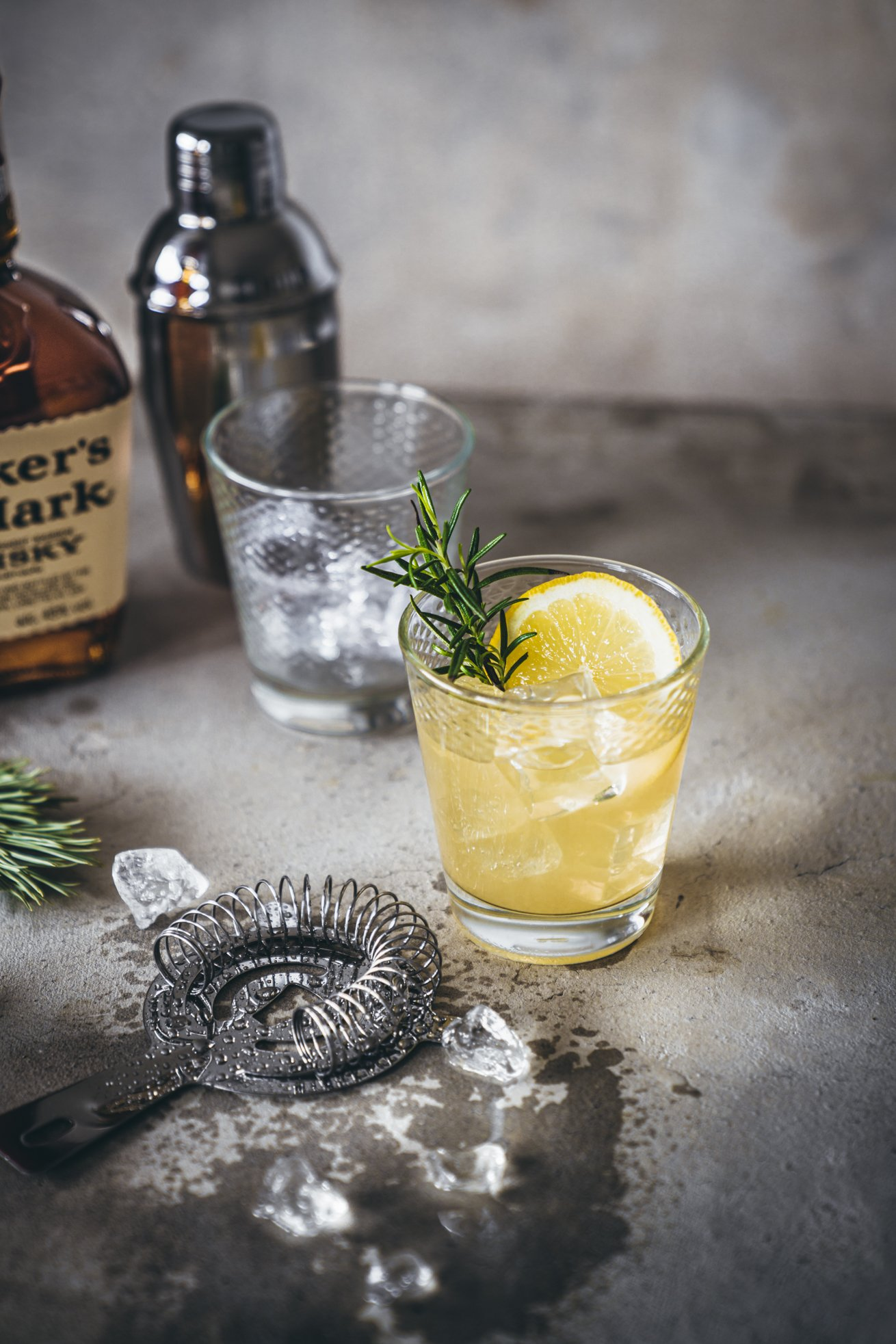 Whisky sour Rosemary Maple