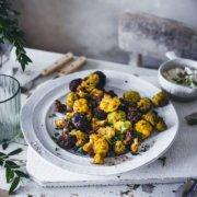 Blumenkohl Popcorn mit veganem Dip