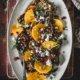 Leichter Salat mit Linsen und Kaki