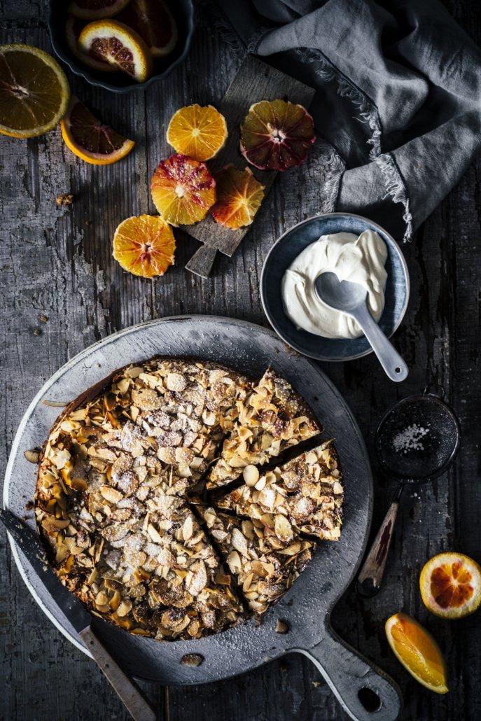 Einfacher Mandel Ricotta Kuchen