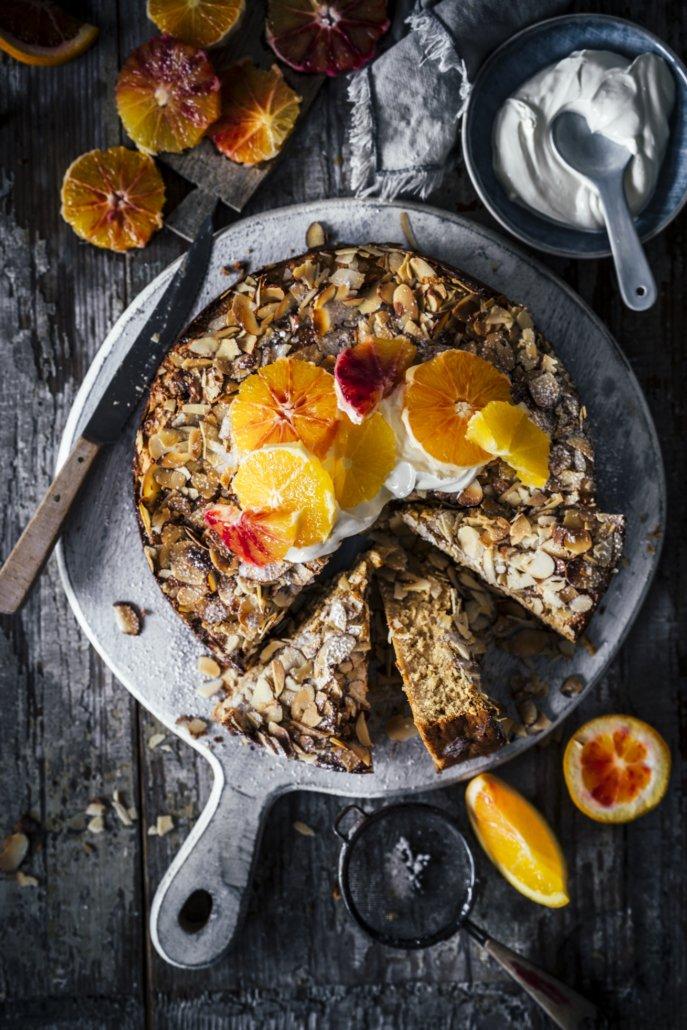 Glutenfreier Mandel Ricotta Kuchen