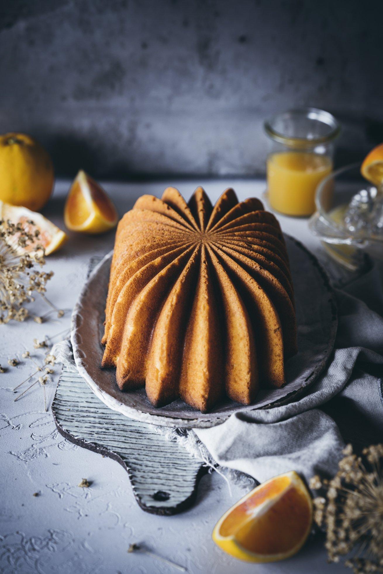 Rührkuchen mit Orangen
