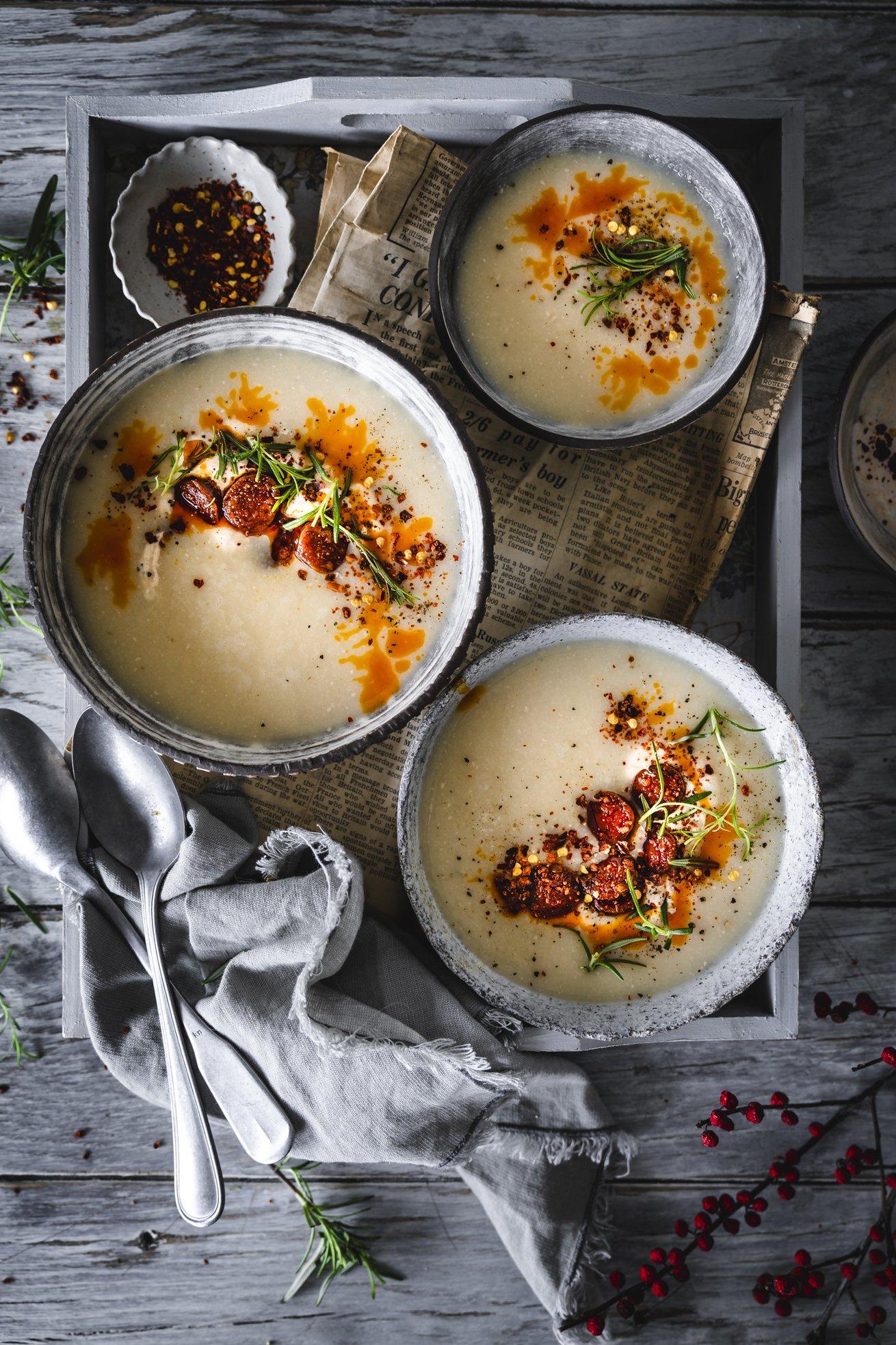 Sämige Bohnensuppe mit Chorizo