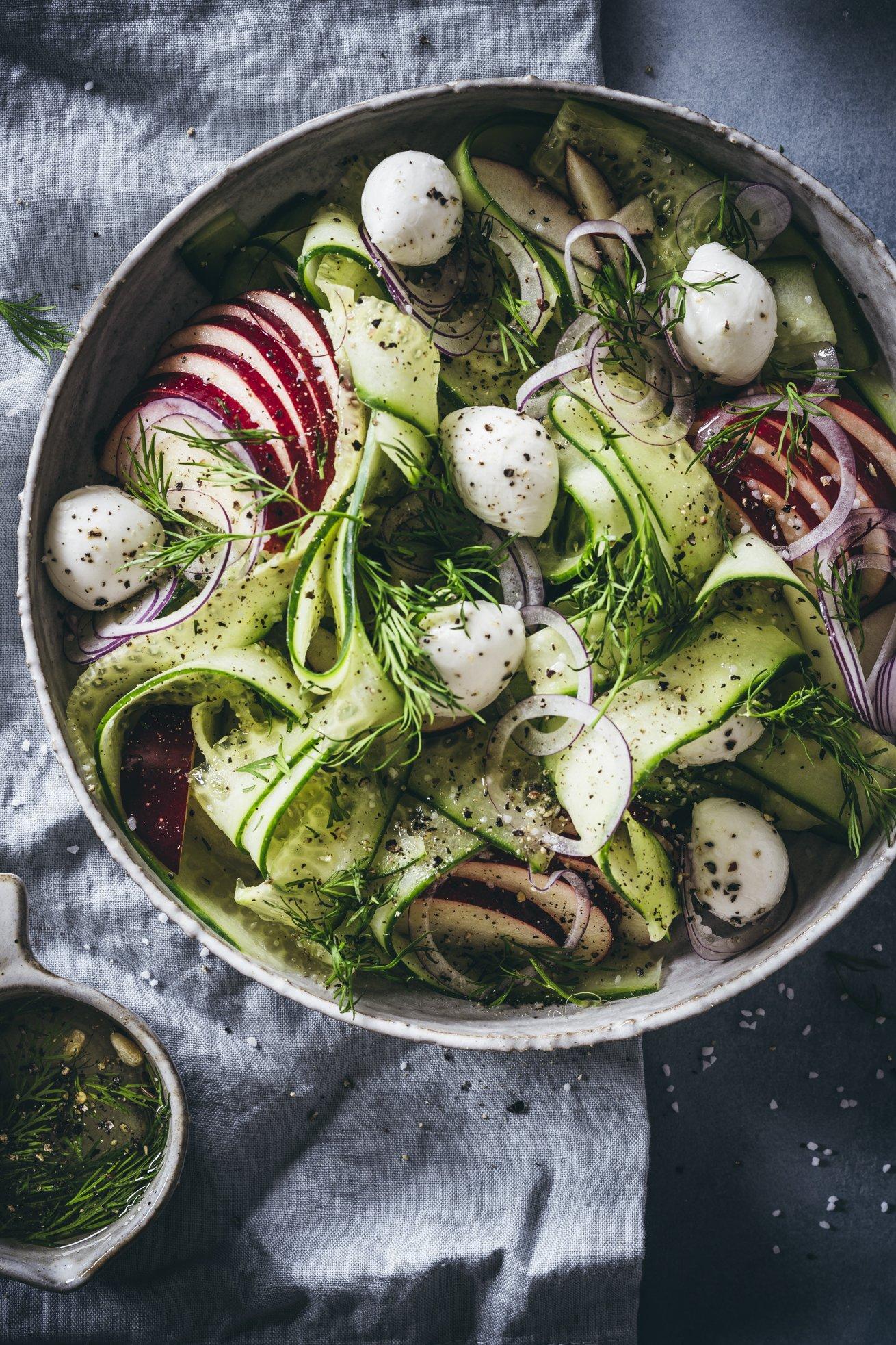 Einfacher Gurken Salat
